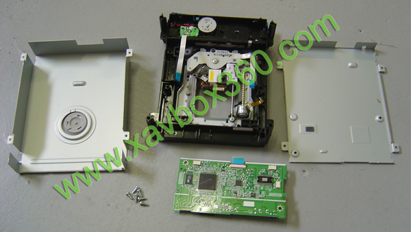 Xbox 360 slim hitachi lg dl10n dvd disk drive replacement tray with