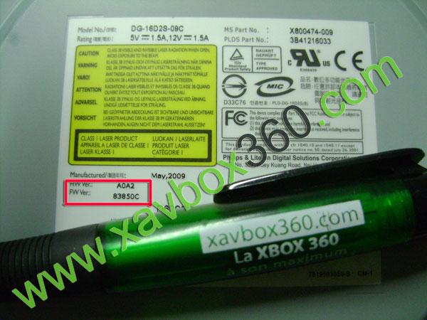 Lecteur Lite On DG-16D2S-09C firmware 83850C - Pose puces